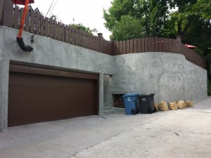 Finished shotcrete wall repair